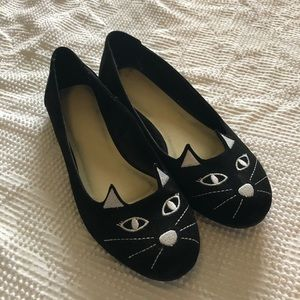 Torrid Black Cat Flats 10W